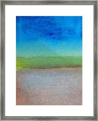 Bedrock Framed Print