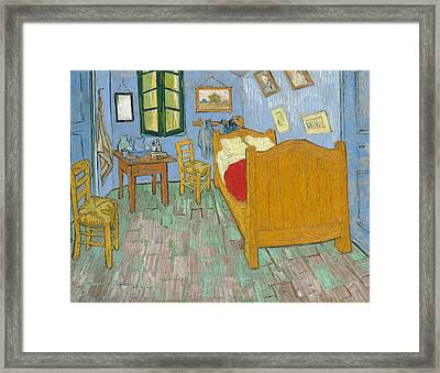 Framed Print featuring the painting Bedroom At Arles by Van Gogh