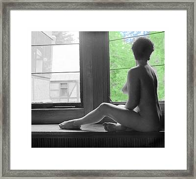 Bedroom Window Framed Print by Jan W Faul