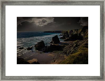 Bedruthan Cornwall Framed Print by Martin Newman