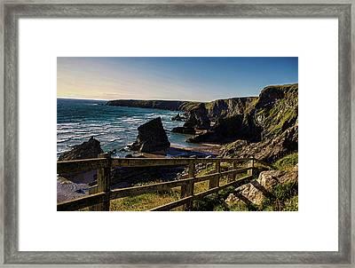 Bedruthan Rocks Framed Print