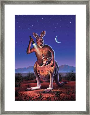 Bedtime For Joey Framed Print