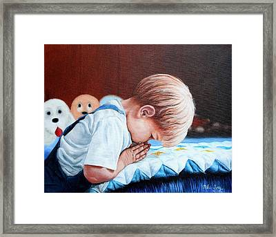 Framed Print featuring the painting Bedtime Prayer by Mike Ivey