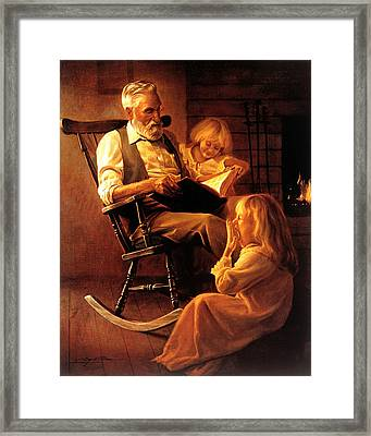 Bedtime Stories Framed Print by Greg Olsen