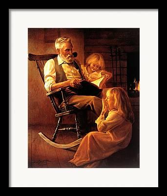 Old Grandfather Time Framed Prints