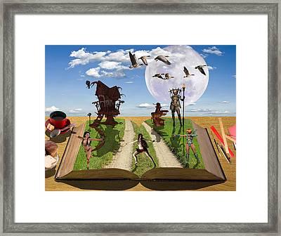 Bedtime Stories Framed Print by Solomon Barroa