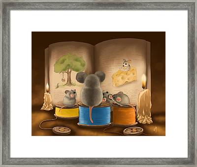Bedtime Story Framed Print by Veronica Minozzi