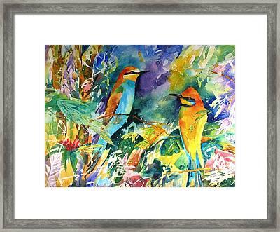 Bee Eaters Framed Print