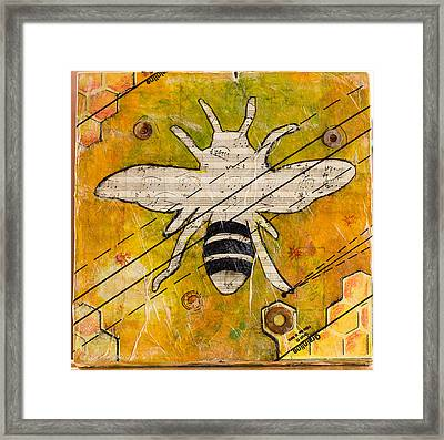 Bee Flat Framed Print