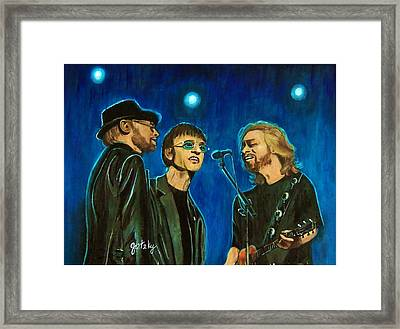 Bee Gees Framed Print by Paintings by Gretzky