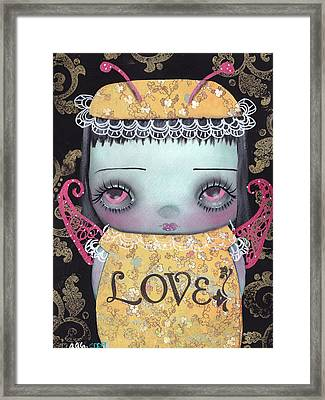 Bee Girl Framed Print by  Abril Andrade Griffith