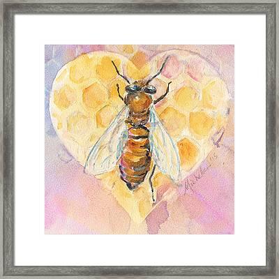 Bee Heart Framed Print