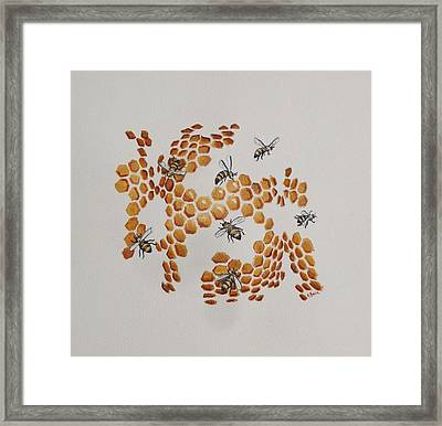 Framed Print featuring the painting Bee Hive # 2 by Katherine Young-Beck