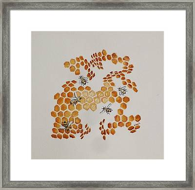 Framed Print featuring the painting Bee Hive # 5 by Katherine Young-Beck