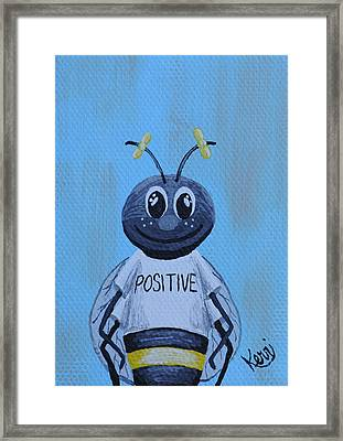 Bee Positive School Picture Framed Print