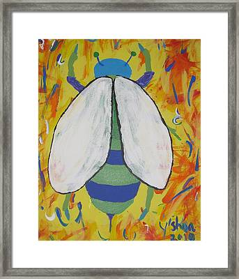 Bee Reimagined Framed Print by Yshua The Painter