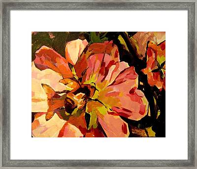 Framed Print featuring the painting Bee Shadow by Tim  Heimdal