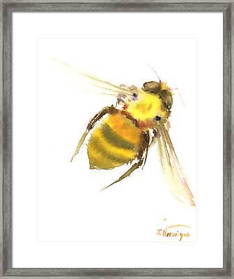 Bee Framed Print by Suren Nersisyan