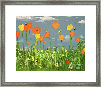 Bee-utiful Day Framed Print by Carol Sweetwood