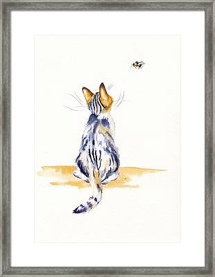 Bee Watchful Framed Print
