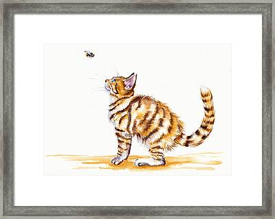 Bee-witched Framed Print by Debra Hall