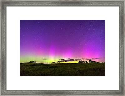 Beech Hill Aurora Framed Print by Tim Sullivan