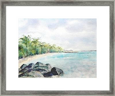 Beef Island Lagoon Framed Print