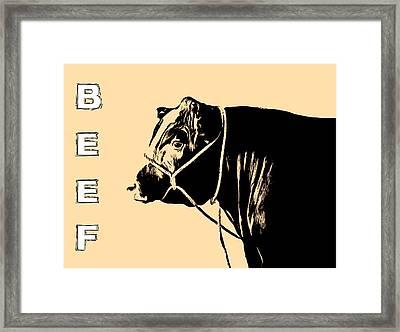 Beef Poster Framed Print
