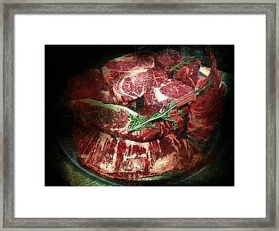 Beefsteak Collection Framed Print by Yury Malkov