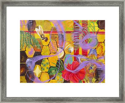 Beehive Oil Painting Framed Print