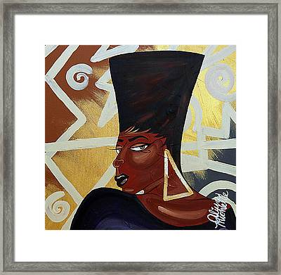 Been A Queen Framed Print by Aliya Michelle