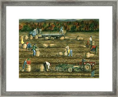 Been There Done That In Aroostook County Framed Print by Paula Robertson