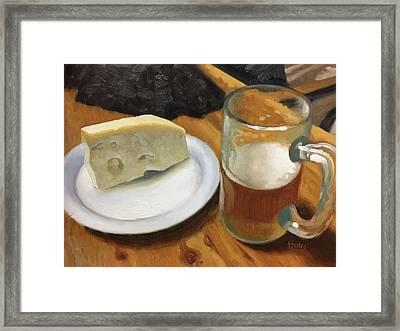Beer And Jarlsberg Framed Print by Timothy Jones