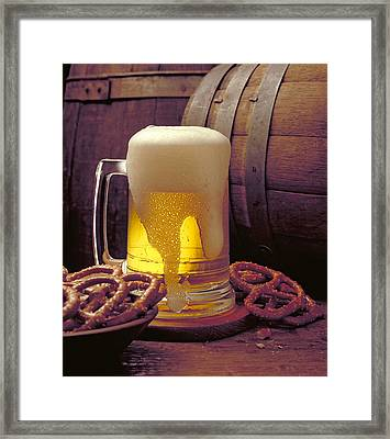 Beer And Pretzels Framed Print by Thomas Firak