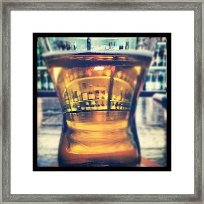 #beer #bar #bottles #irish #drinking Framed Print