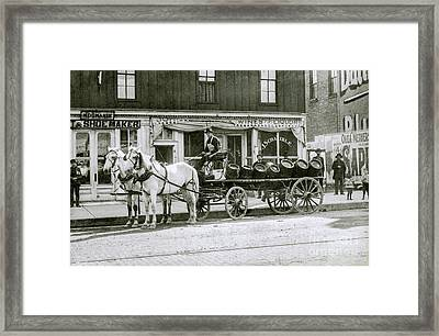 Beer Barrel Wagon Framed Print