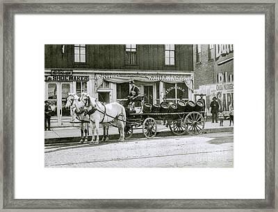 Beer Barrel Wagon Framed Print by Jon Neidert