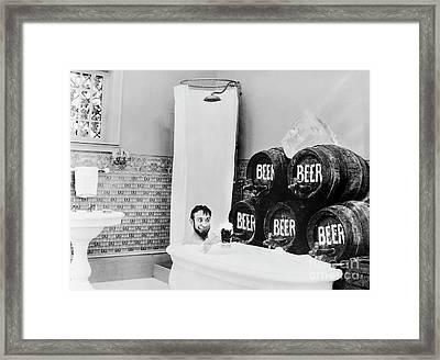 Beer Bath Framed Print by Jon Neidert