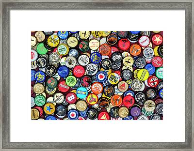 Beer Bottle Caps Framed Print by Tim Gainey