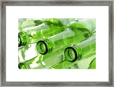 Beer Bottles Framed Print