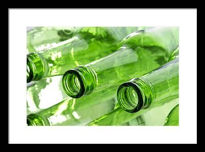 Bottle Green Photographs Framed Prints