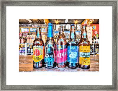 Beer Bottles Framed Print by Chris Lawrence