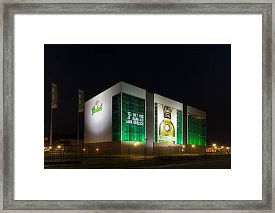 Beer Brewery At Night Framed Print