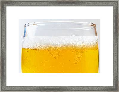 Beer Bubbles Framed Print by Garry Gay
