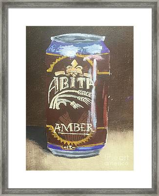 Beer Can Framed Print by Colby Fox