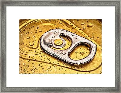 Beer Can Pull Tab Framed Print by Tom Mc Nemar