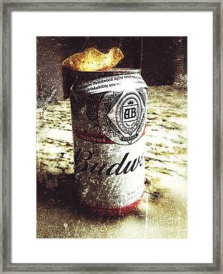 Beer Can With Tortilla Chip Framed Print by Jason Freedman