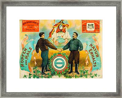 Beer Drivers Union Promotional Service Tray Framed Print by Steven Green