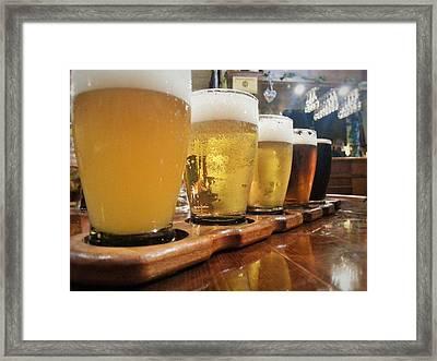Beer Flight Framed Print by Marnie Malone