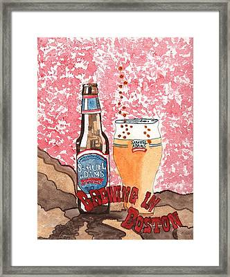 Beer From A Bottle No.6 Framed Print